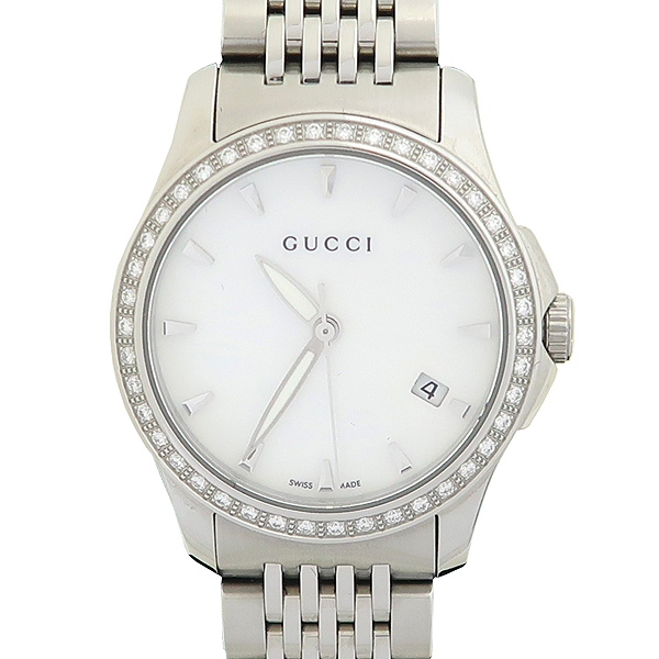 Gucci(구찌) 126.5 G-TIMELESS 베젤 다이아 여성용 스틸 시계 [강남본점]