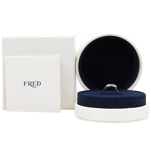 FRED(프레드) 4B0379 18K 화이트골드 포스텐 미디엄 27포인트 다이아 셋팅 반지 - 9호 [강남본점]