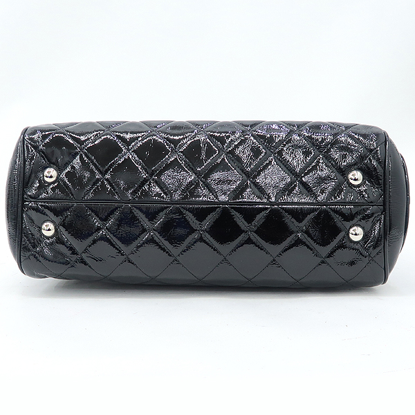 Chanel(샤넬) COCO로고 장식 블랙 페이던트 퀼팅 정방 은장 체인 숄더백 [강남본점]