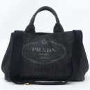 Prada(프라다) 블랙 데님 밀라노 로고 2way [강남본점]