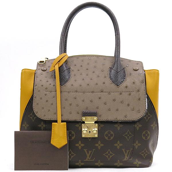 Louis Vuitton(루이비통) N91285 모노그램 캔버스 EX.PY.B (오스트리치,리자드,그로 그랭 레더) 혼방 MAJES(마제스튀) PM 토트백 [강남본점]