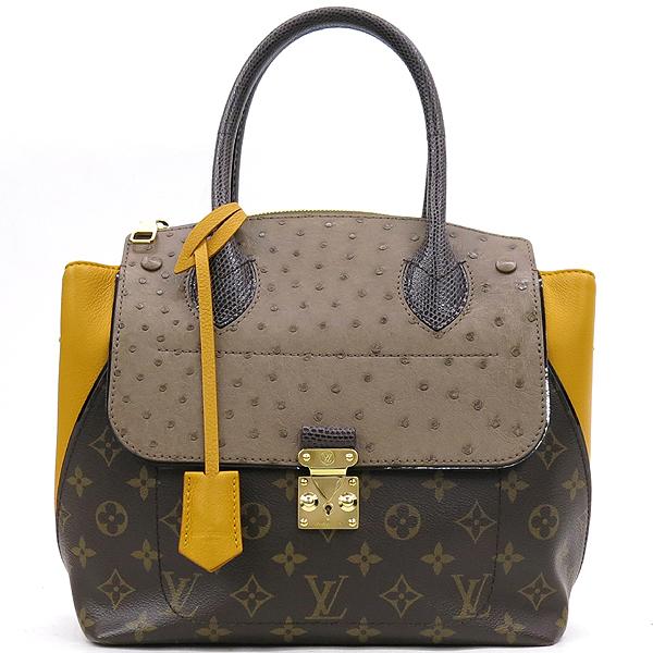 Louis Vuitton(루이비통) N91285 모노그램 캔버스 EX.PY.B (오스트리치,리자드,그로 그랭 레더) 혼방 MAJES(마제스튀) PM 토트백 [강남본점] 이미지2 - 고이비토 중고명품
