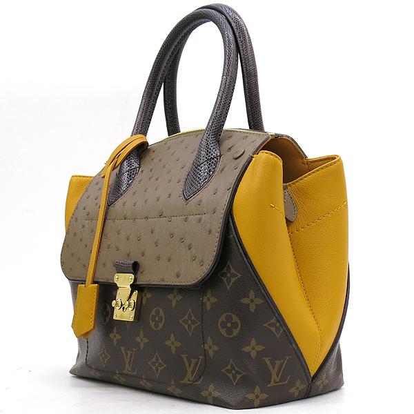 Louis Vuitton(루이비통) N91285 모노그램 캔버스 EX.PY.B (오스트리치,리자드,그로 그랭 레더) 혼방 MAJES(마제스튀) PM 토트백 [강남본점] 이미지3 - 고이비토 중고명품
