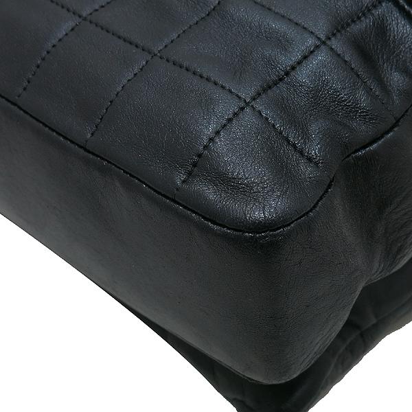 Chanel(샤넬) 블랙 레더 멀티 포켓 장식 빈티지 은장 락 장식 플랩 숄더백 [인천점] 이미지4 - 고이비토 중고명품