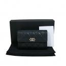 Chanel(샤넬) A84385Y0148094305 은장 로고 블랙 램스킨 보이 중지갑 [대구동성로점]