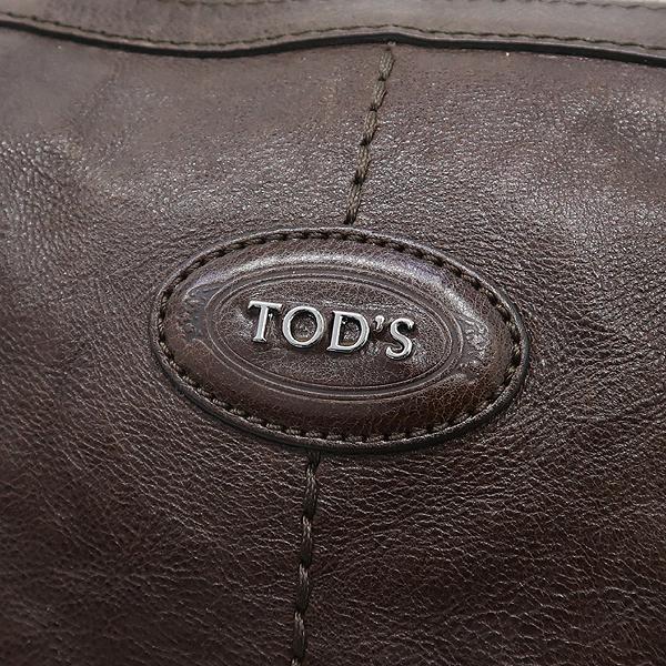 Tod's(토즈) 브라운 컬러 레더 은장 로고 장식 토트백 + 숄더스트랩 [강남본점] 이미지4 - 고이비토 중고명품