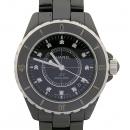 Chanel(샤넬) H1626 J12 블랙 세라믹 12포인트 다이아 38mm 오토메틱 남성용 시계 [강남본점]