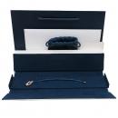 FRED(프레드) 블루 컬러 스틸 브레이슬릿 AU750 (18K 핑크골드) 포스 텐 미디엄 모델  풀 파베 다이아몬드 세팅 팔찌 [인천점]