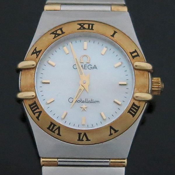 Omega(오메가) 18K 콤비 CONSTELLATION(컨스틸레이션) 하프바 자개판 여성용 시계 [부산센텀본점]