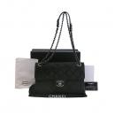 Chanel(샤넬) COCO 로고 장식 블랙 레더 여성용 체인 숄더백 [대구동성로점]
