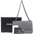 Chanel(샤넬) A37587 빈티지 그레이 컬러 2.55 M사이즈 은장 체인 숄더백 [강남본점]