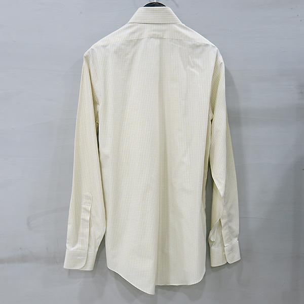 BROOKS BROTHERS(브룩스브라더스) 100% 옐로 블루 체크 코튼 남성용 셔츠 [부산센텀본점] 이미지3 - 고이비토 중고명품