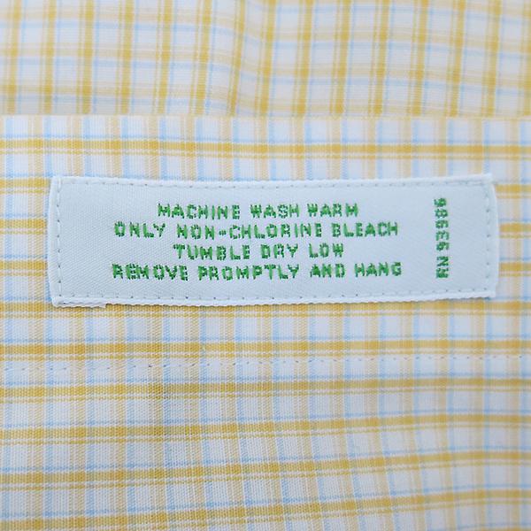 BROOKS BROTHERS(브룩스브라더스) 100% 옐로 블루 체크 코튼 남성용 셔츠 [부산센텀본점] 이미지5 - 고이비토 중고명품