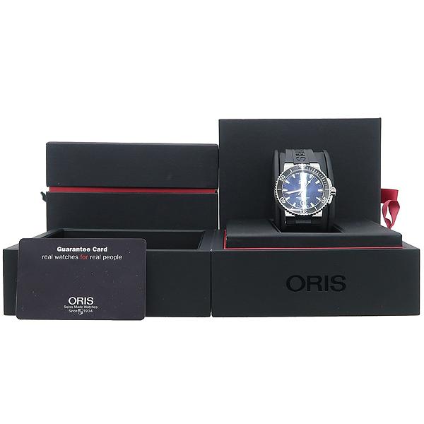 ORIS(오리스) 733 7653 AQUIS(애커스) 오토매틱 시스루백 러브 밴드 남성용 시계 [강남본점]
