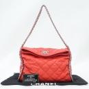 Chanel(샤넬) COCO 은장 로고 레드 플랩 체인 숄더백 [강남본점]