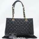 Chanel(샤넬) A50995Y01588 캐비어스킨 블랙 그랜드샤핑 은장로고 체인 숄더백 [강남본점]