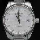 LONGINES(론진) L2.257.4.77.6 Master Collection (마스터 컬렉션) 데이트 29mm 12포인트 다이아몬드 인덱스 크리스털 케이스백 여성용 오토메틱 시계 [인천점]