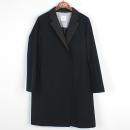 KUHO(구호) 폴리에스터 혼방 네이비 컬러 그레이 컬러 모직 카라 디테일 여성용 코트 [강남본점]