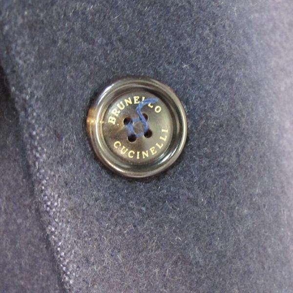 BRUNELLO CUCINELLI (브루넬로 쿠치넬리) 네이비 컬러 캐시미어 100 남성용 코트 [대구반월당본점] 이미지4 - 고이비토 중고명품