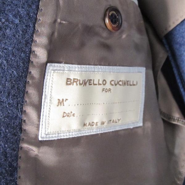 BRUNELLO CUCINELLI (브루넬로 쿠치넬리) 네이비 컬러 캐시미어 100 남성용 코트 [대구반월당본점] 이미지5 - 고이비토 중고명품