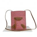 Balenciaga(발렌시아가) 255406 오스트리치 레더 핑크 컬러 모터 미니 크로스백 [동대문점]