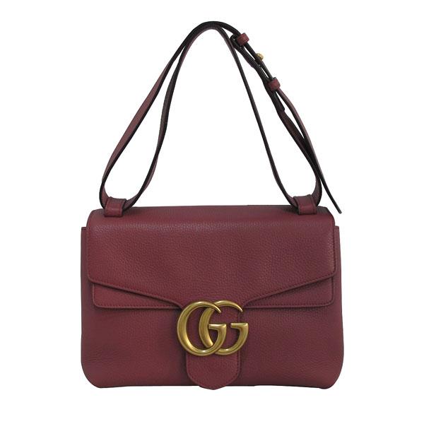 Gucci(구찌) 401173 핑크로즈 컬러 레더 금장 마몬트 로고 플랩 숄더백 [대구반월당본점] 이미지2 - 고이비토 중고명품