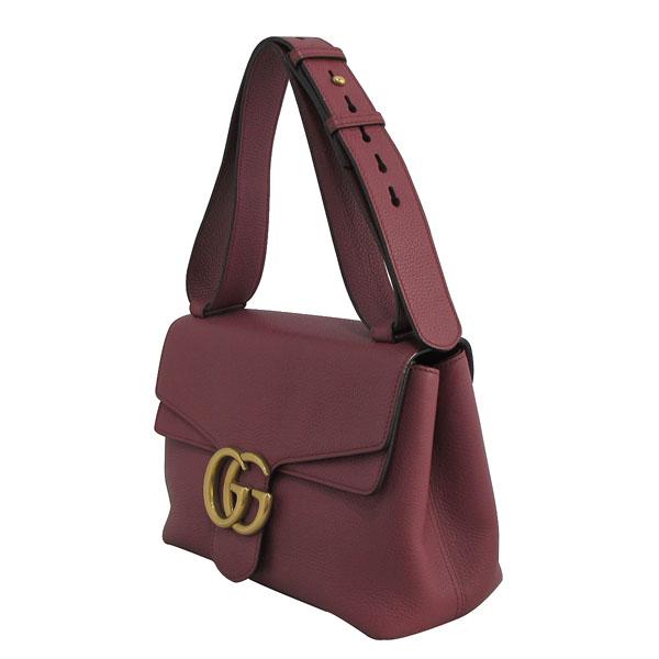 Gucci(구찌) 401173 핑크로즈 컬러 레더 금장 마몬트 로고 플랩 숄더백 [대구반월당본점] 이미지3 - 고이비토 중고명품