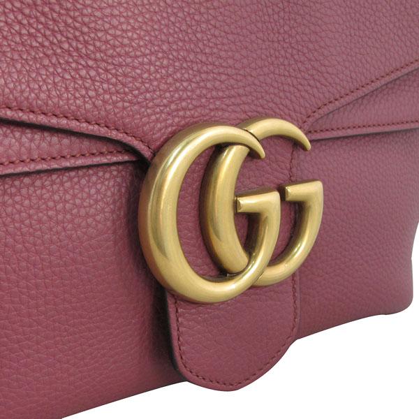 Gucci(구찌) 401173 핑크로즈 컬러 레더 금장 마몬트 로고 플랩 숄더백 [대구반월당본점] 이미지4 - 고이비토 중고명품