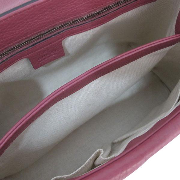 Gucci(구찌) 401173 핑크로즈 컬러 레더 금장 마몬트 로고 플랩 숄더백 [대구반월당본점] 이미지7 - 고이비토 중고명품