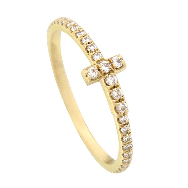 Tiffany(티파니) 18K(750) 옐로우골드 0.19 캐럿 풀 서클 다이아 T 와이어 반지 [강남본점] 이미지2 - 고이비토 중고명품