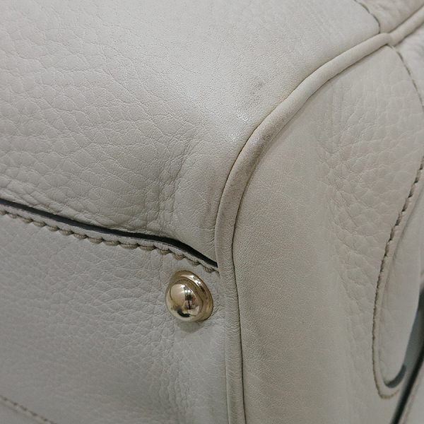 Gucci(구찌) 308360 GG 로고 자가드 아이보리 레더 뱀부 장식 토트백 + 숄더 스트랩 [인천점] 이미지5 - 고이비토 중고명품