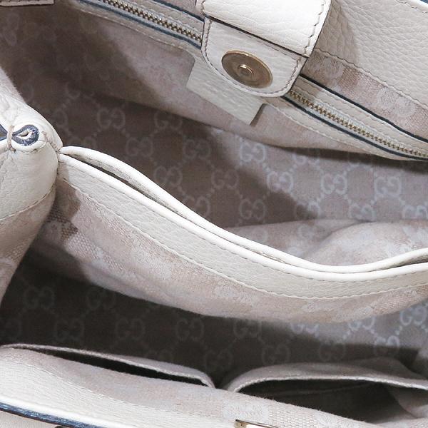 Gucci(구찌) 308360 GG 로고 자가드 아이보리 레더 뱀부 장식 토트백 + 숄더 스트랩 [인천점] 이미지7 - 고이비토 중고명품