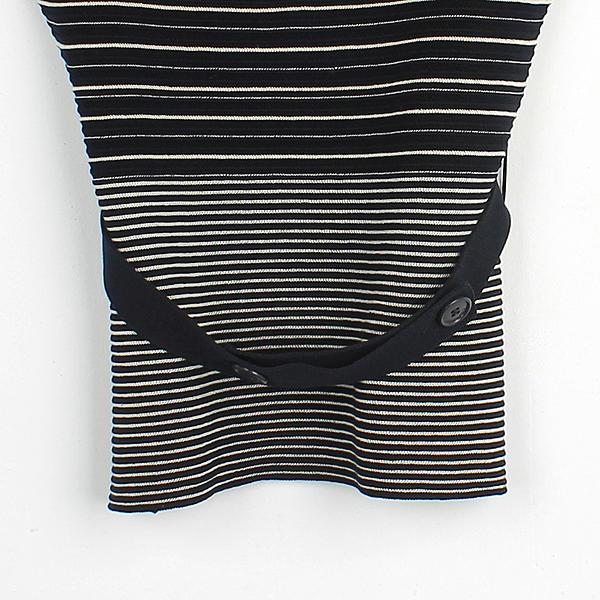 Dior(크리스챤디올) 네이비컬러 커튼 스트라이프 니트 탑 슬리브레스 + 벨트 SET [인천점] 이미지2 - 고이비토 중고명품