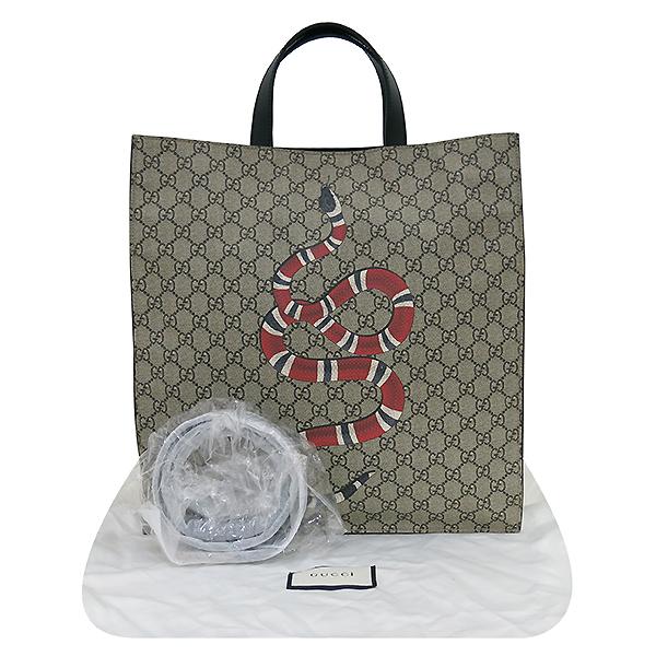 Gucci(구찌) 450950 로고 PVC 스네이크 프린팅 소프트 GG 수프림 쇼퍼 토트백 + 숄더스트랩 2WAY [부산서면롯데점]
