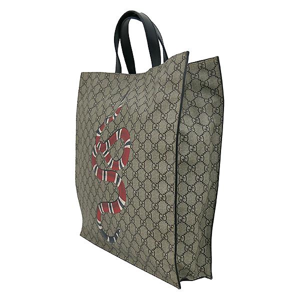 Gucci(구찌) 450950 로고 PVC 스네이크 프린팅 소프트 GG 수프림 쇼퍼 토트백 + 숄더스트랩 2WAY [부산서면롯데점] 이미지3 - 고이비토 중고명품