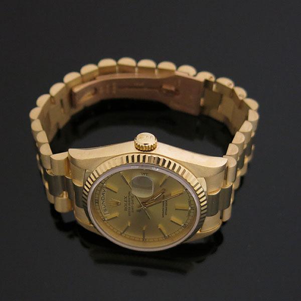 Rolex(로렉스) 18238 DAYDATE 데이데이트 18K 옐로우골드 금통 프레지던트 브레이슬릿 남성용시계 [대구동성로점] 이미지3 - 고이비토 중고명품