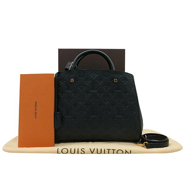 Louis Vuitton(루이비통) M41048 모노그램 앙프렝트 NOIR(블랙) 몽테뉴 MM 토트백+숄더스트랩 [인천점]