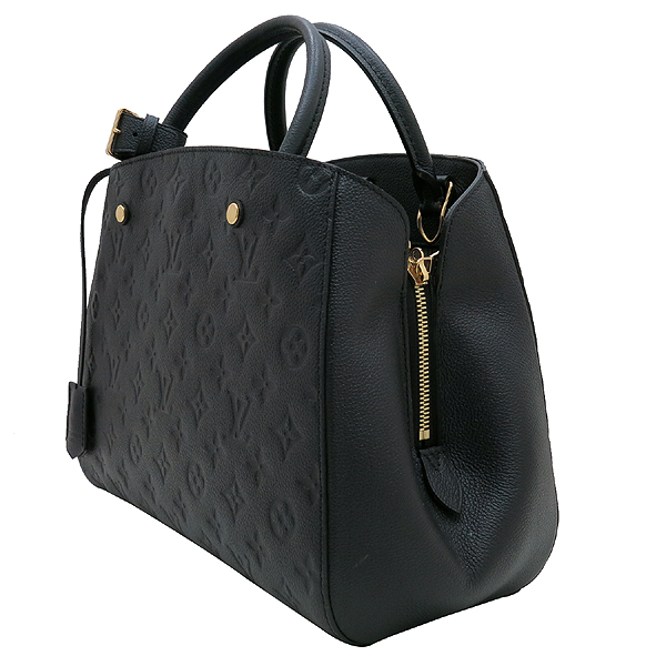 Louis Vuitton(루이비통) M41048 모노그램 앙프렝트 NOIR(블랙) 몽테뉴 MM 토트백+숄더스트랩 [인천점] 이미지3 - 고이비토 중고명품