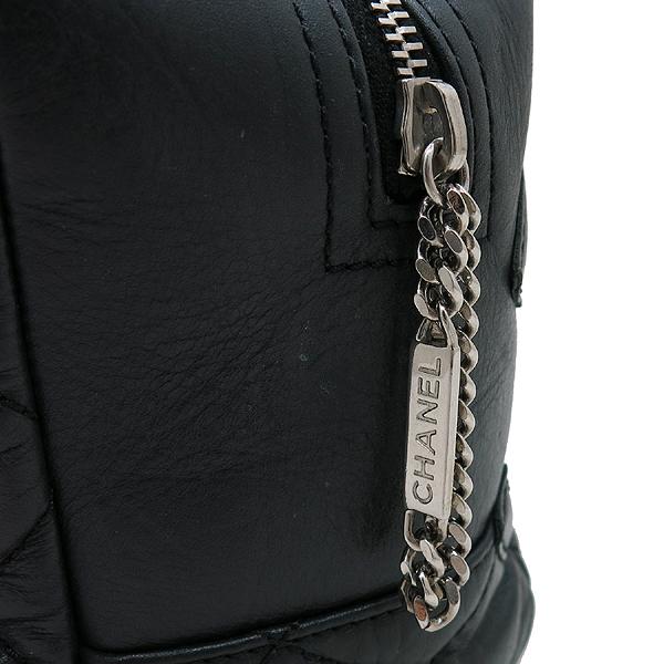 Chanel(샤넬) A34315 블랙 cambon(깜봉) 코튼클럽 지퍼 디테일 CO CO 로고 은장 체인 bowling 숄더백 [인천점] 이미지4 - 고이비토 중고명품