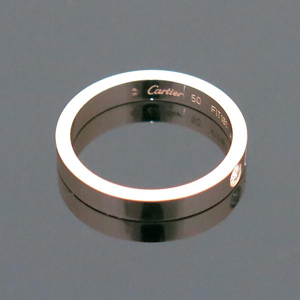 Cartier(까르띠에) B4086450 18K 핑크 골드 인그레이빙 1포인트 웨딩 반지 - 10호 [부산센텀본점] 이미지3 - 고이비토 중고명품