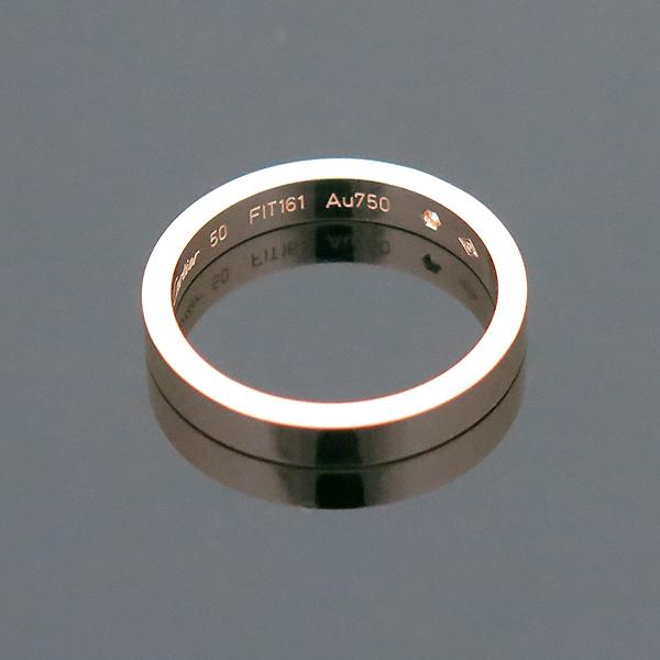 Cartier(까르띠에) B4086450 18K 핑크 골드 인그레이빙 1포인트 웨딩 반지 - 10호 [부산센텀본점] 이미지4 - 고이비토 중고명품