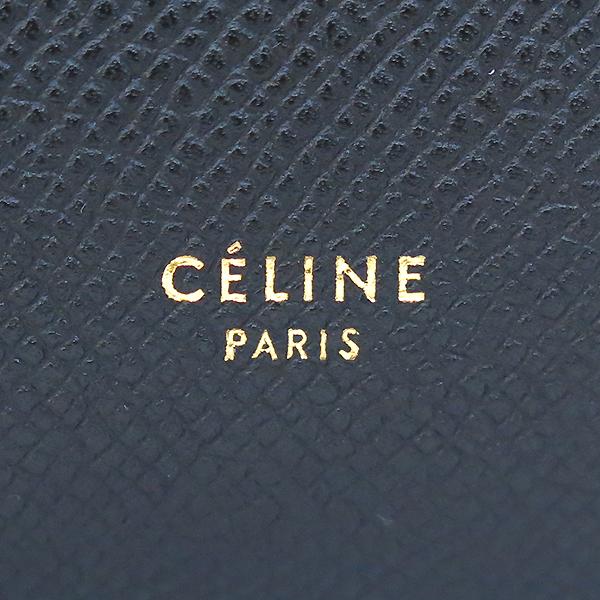 Celine(셀린느) 17610 블랙 레더 미니 사이즈 벨트백 토트 + 숄더스트랩 2WAY [부산센텀본점] 이미지5 - 고이비토 중고명품