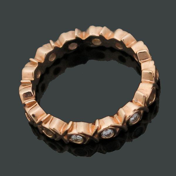 Tiffany(티파니) 18K(750) 옐로우 골드 3포인트 다이아 팔로마 피카소 러브 앤 키스 반지-8호 [인천점] 이미지2 - 고이비토 중고명품