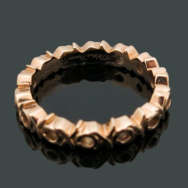 Tiffany(티파니) 18K(750) 옐로우 골드 3포인트 다이아 팔로마 피카소 러브 앤 키스 반지-8호 [인천점] 이미지4 - 고이비토 중고명품