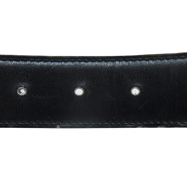Hermes(에르메스) 은장 H 로고 기요쉐 장식 브라운 블랙 레더 양면 남성용 벨트[인천점] 이미지3 - 고이비토 중고명품