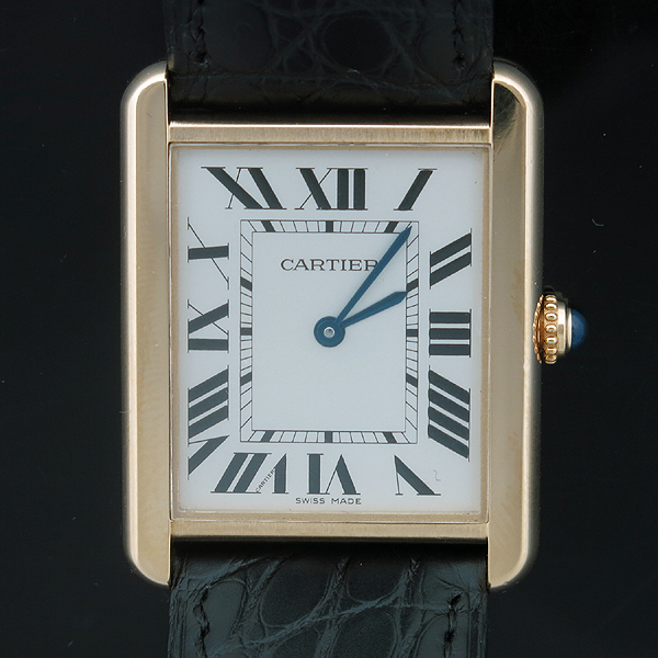 Cartier(까르띠에) W5200025 18K 옐로우 골드 스피넬 장식 탱크 솔로 남성용 쿼츠 레더 밴드 시계 [인천점] 이미지2 - 고이비토 중고명품