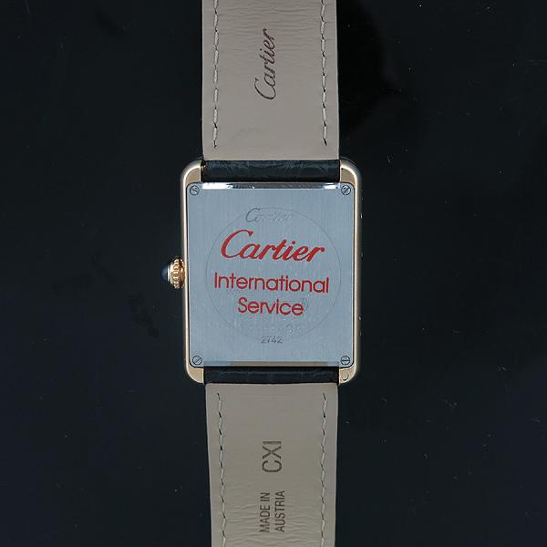 Cartier(까르띠에) W5200025 18K 옐로우 골드 스피넬 장식 탱크 솔로 남성용 쿼츠 레더 밴드 시계 [인천점] 이미지5 - 고이비토 중고명품