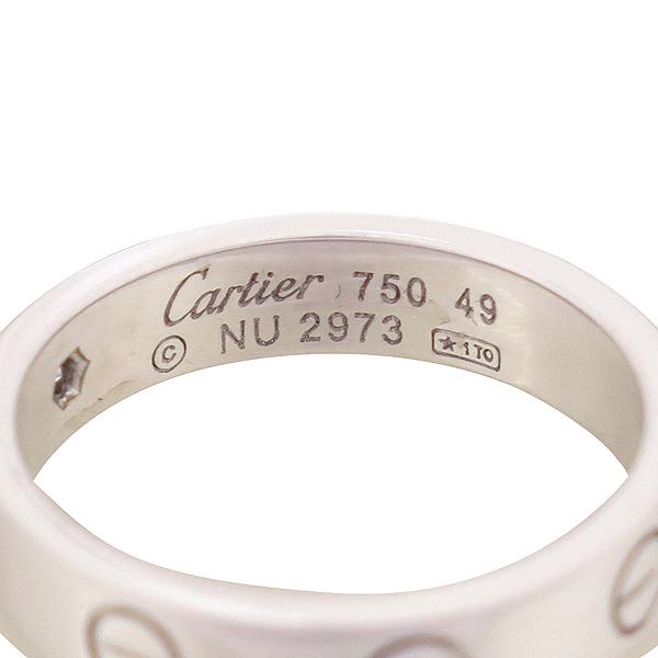 Cartier(까르띠에) B4050549 18K 화이트골드 미니 러브링 1포인트 다이아 반지 [강남본점] 이미지2 - 고이비토 중고명품