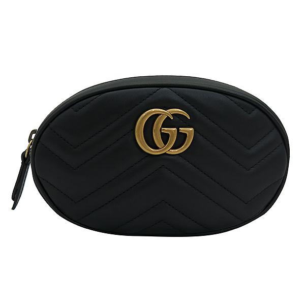Gucci(구찌) 476434 GG 로고 블랙 레더 힙색 [부산센텀본점] 이미지2 - 고이비토 중고명품