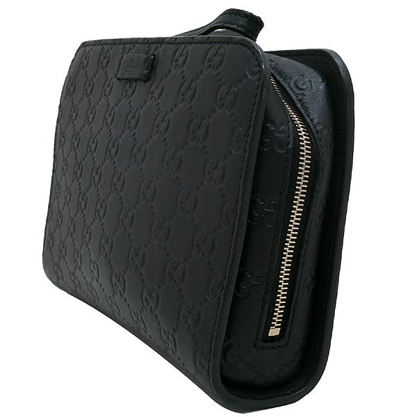 Gucci(구찌) 201755 GG 로고 블랙 컬러 시마 레더 파우치 클러치 세컨백 [인천점] 이미지2 - 고이비토 중고명품